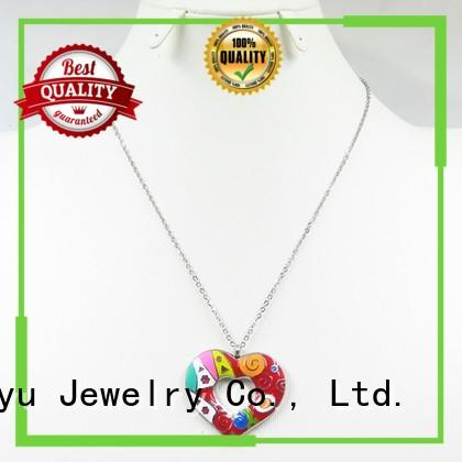 cute enamel gold necklace luck bird for ladies