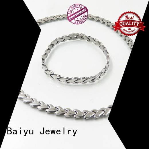 plated matching necklace and bracelet plated for engagement Baiyu Jewelry