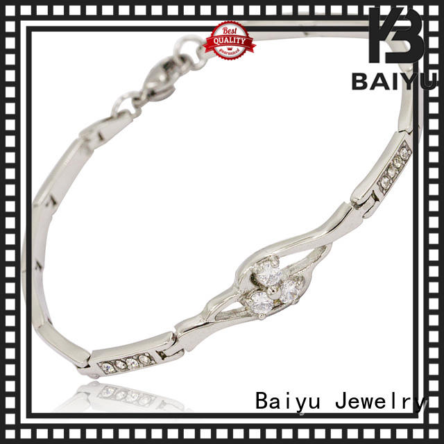 Baiyu Jewelry best manufacturer stainless steel bracelets for ladies bulk production for girls