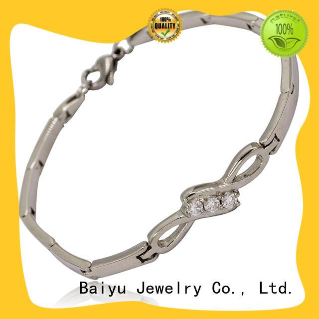 Baiyu Jewelry hot-sale steel bracelet for women best manufacturer for men