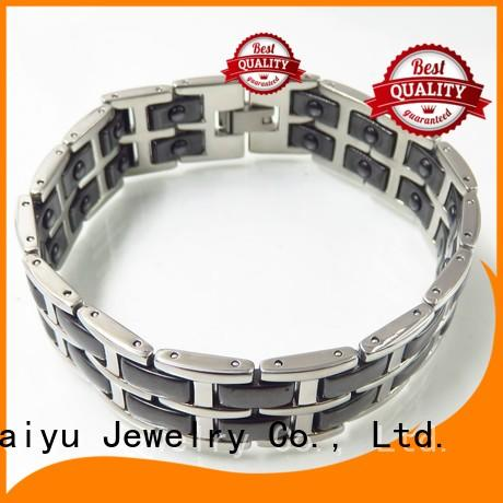 ss black ceramic bracelet top brand for girls Baiyu Jewelry
