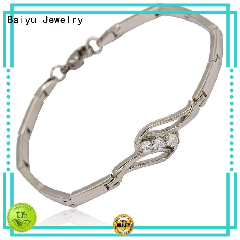 Baiyu Jewelry Wholesale stainless steel bracelets for ladies company