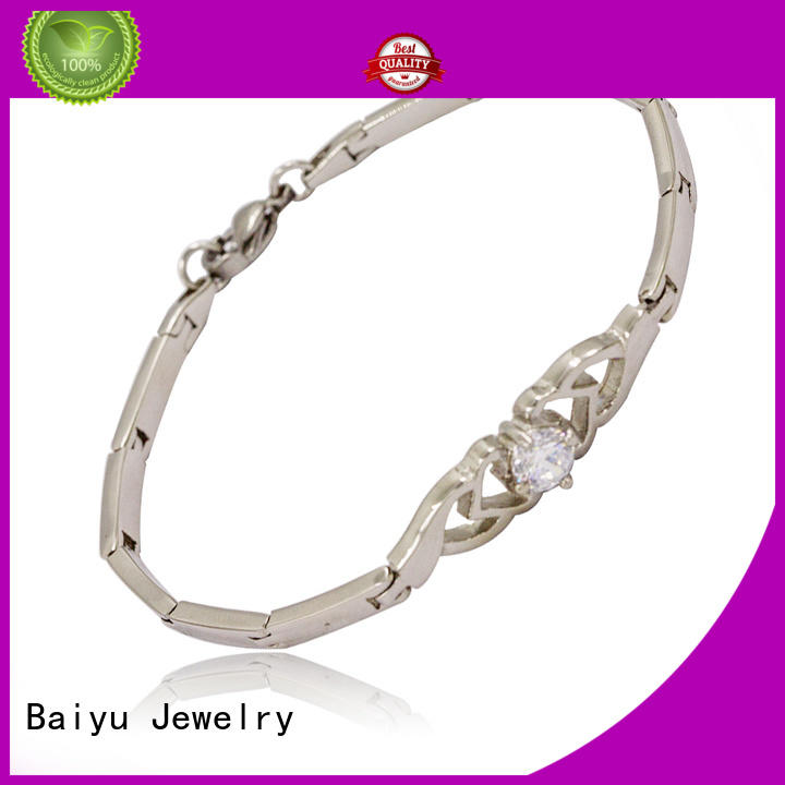 high quality stainless steel womens bracelet by bulk for women Baiyu Jewelry