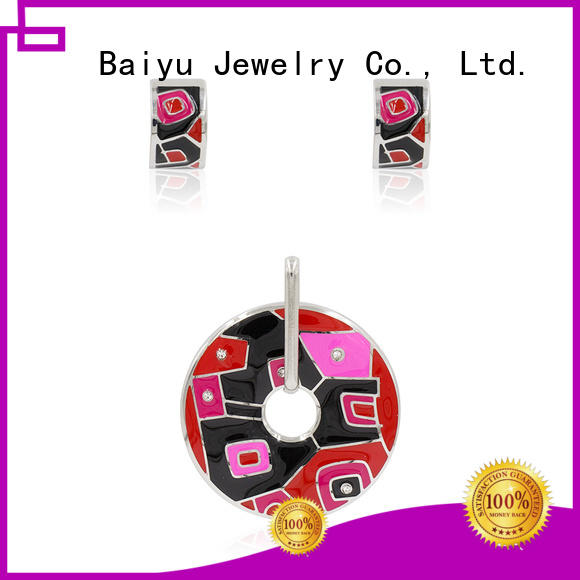 Baiyu Jewelry vintage enamel jewelry plating for bridal