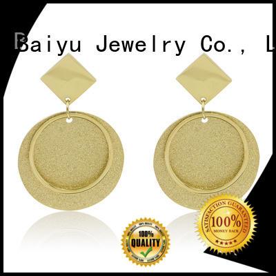 Baiyu Jewelry oem surgical steel cartilage stud earrings dream styles for female