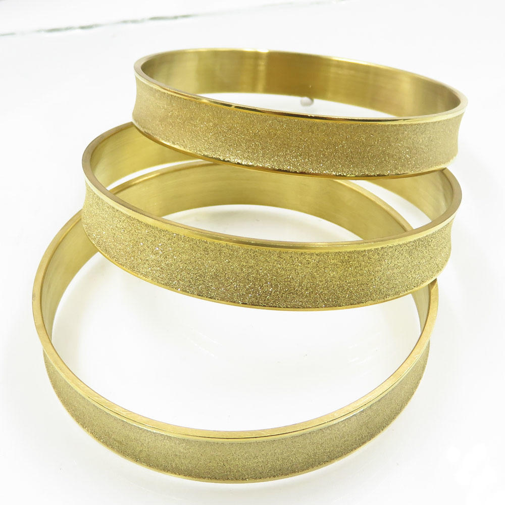 Newest bulk sale gold polished round circle stainless steel bangle