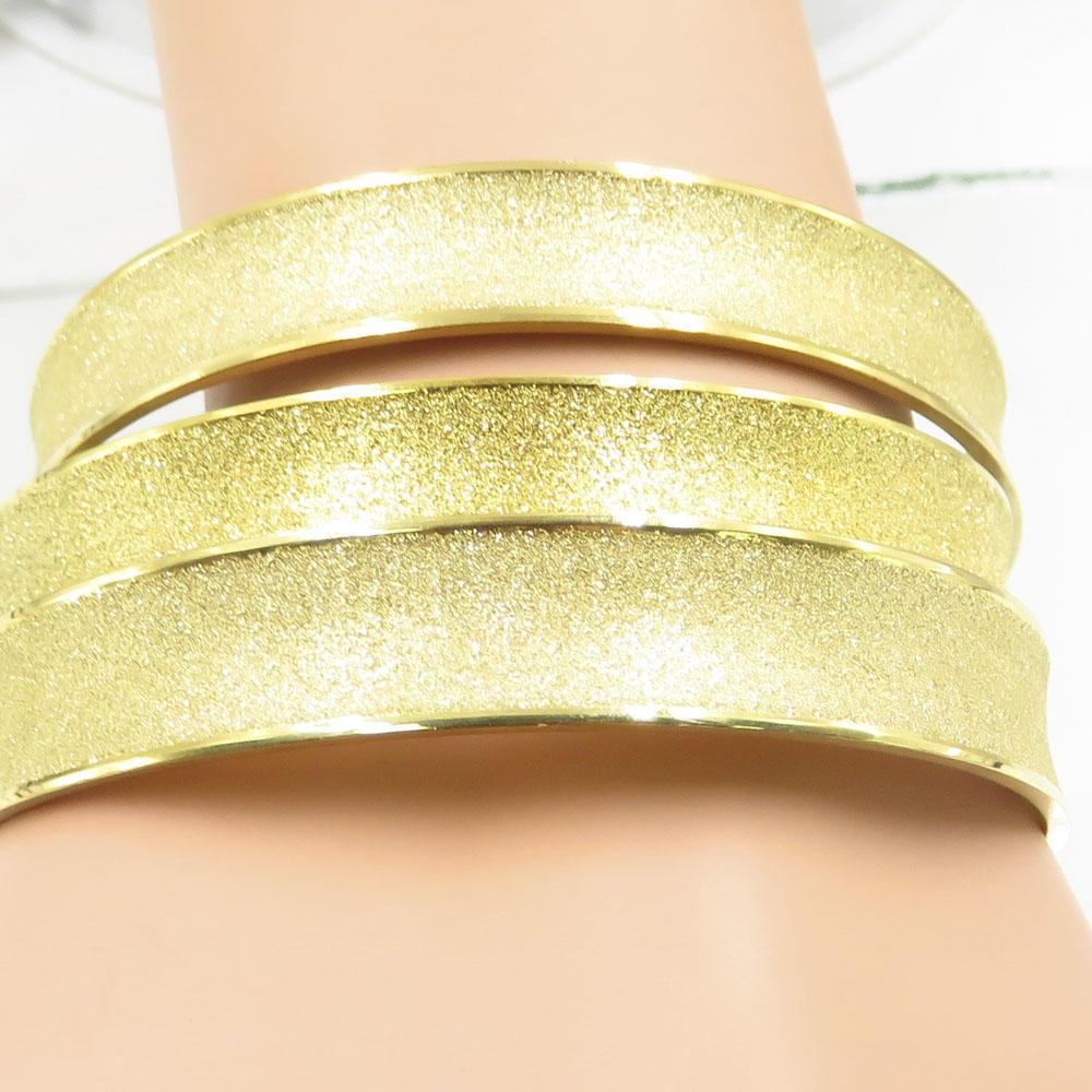 Newest bulk sale gold polished round circle stainless steel bangle