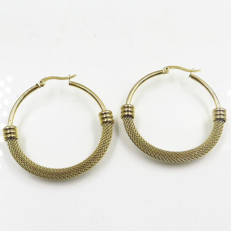 Baiyu wholesale women stainless steel hoop earrings online for sale