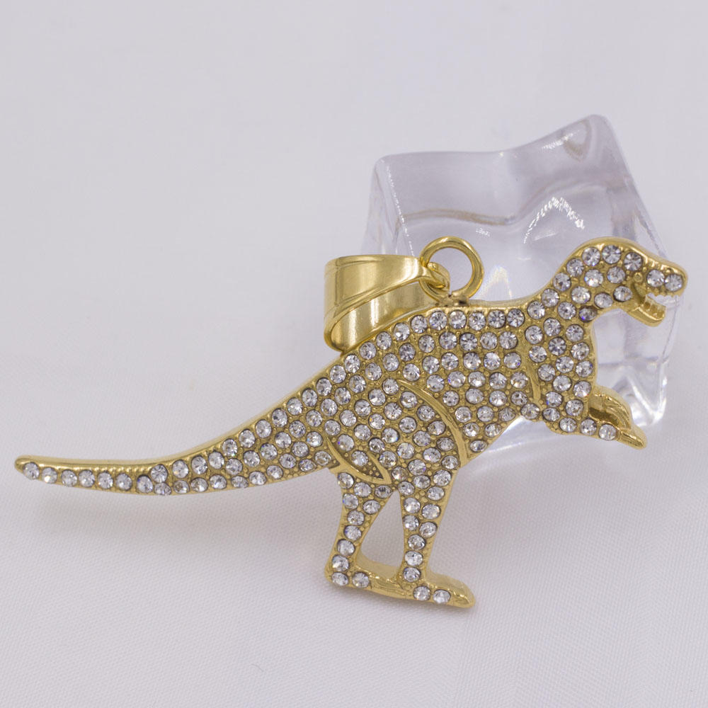Excellent steel metal dragon necklace jewelry