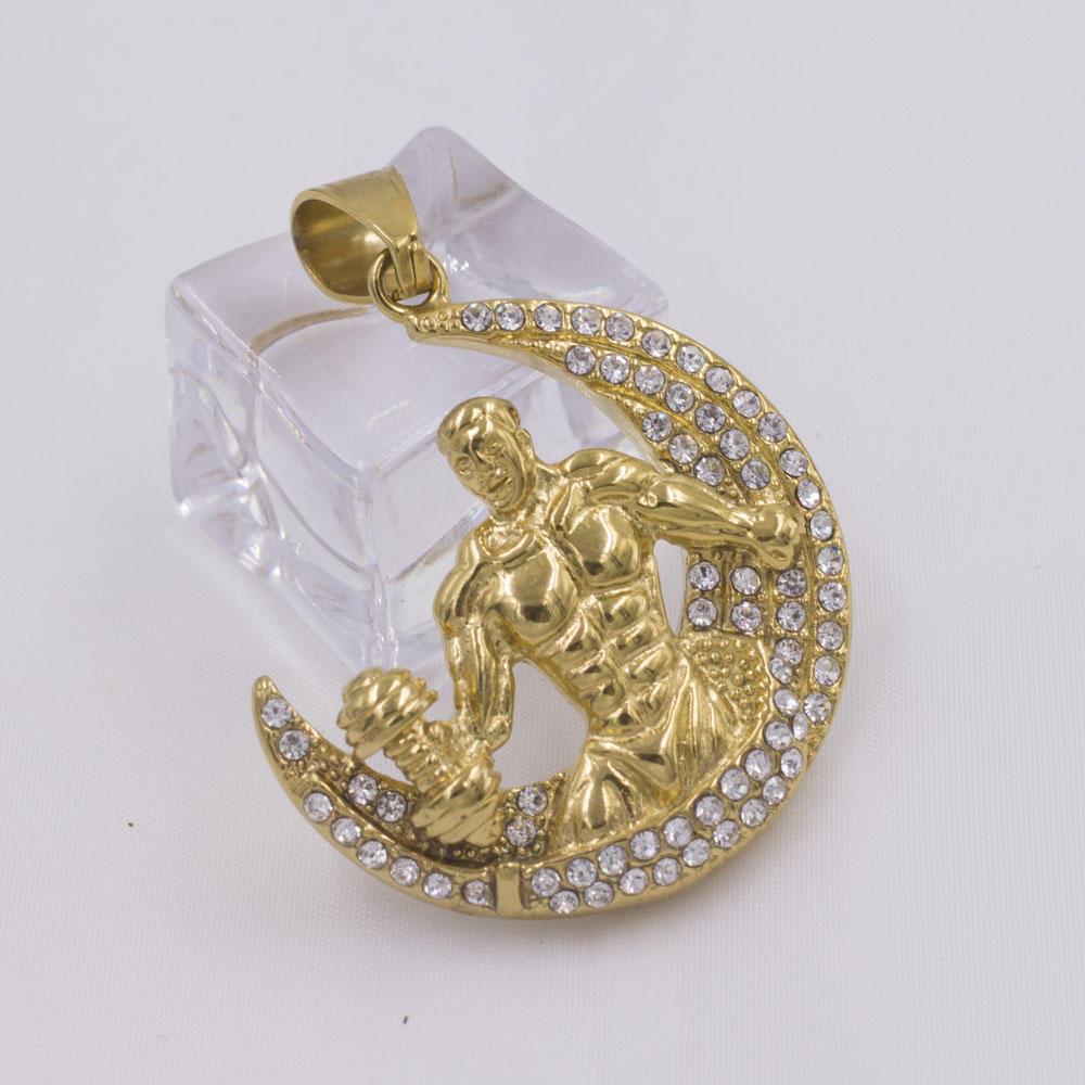 Wholesale custom gold boy pendant artisan strength symbol necklace