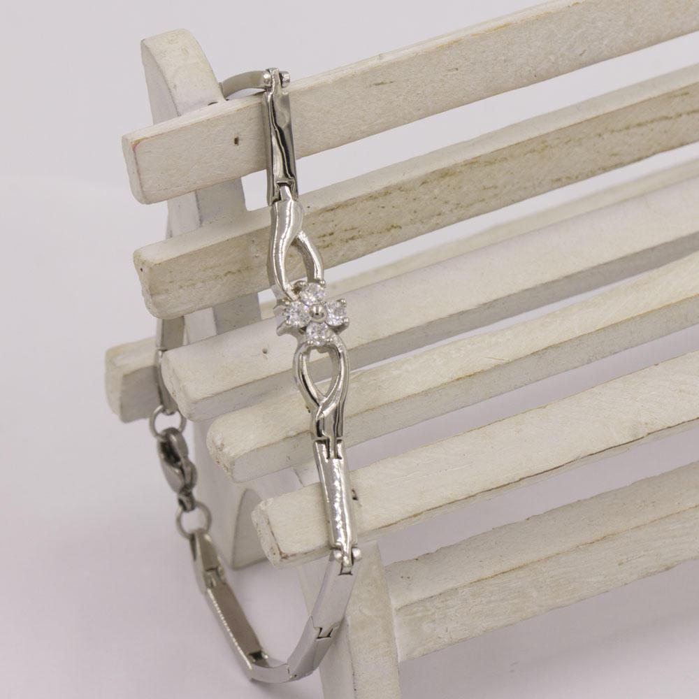 Chain link stone bracelet making in steel