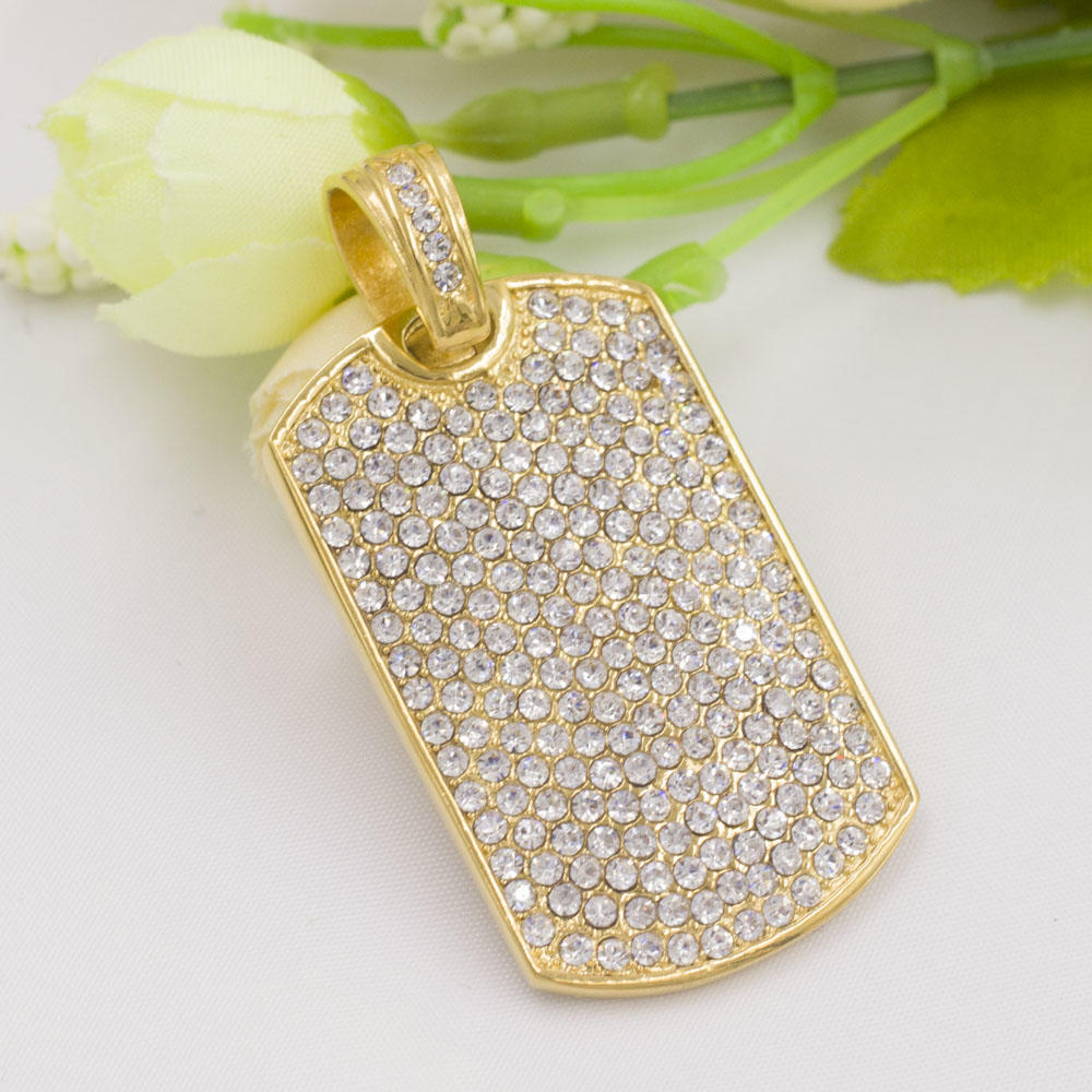 True love rectangle pendant luxury necklace