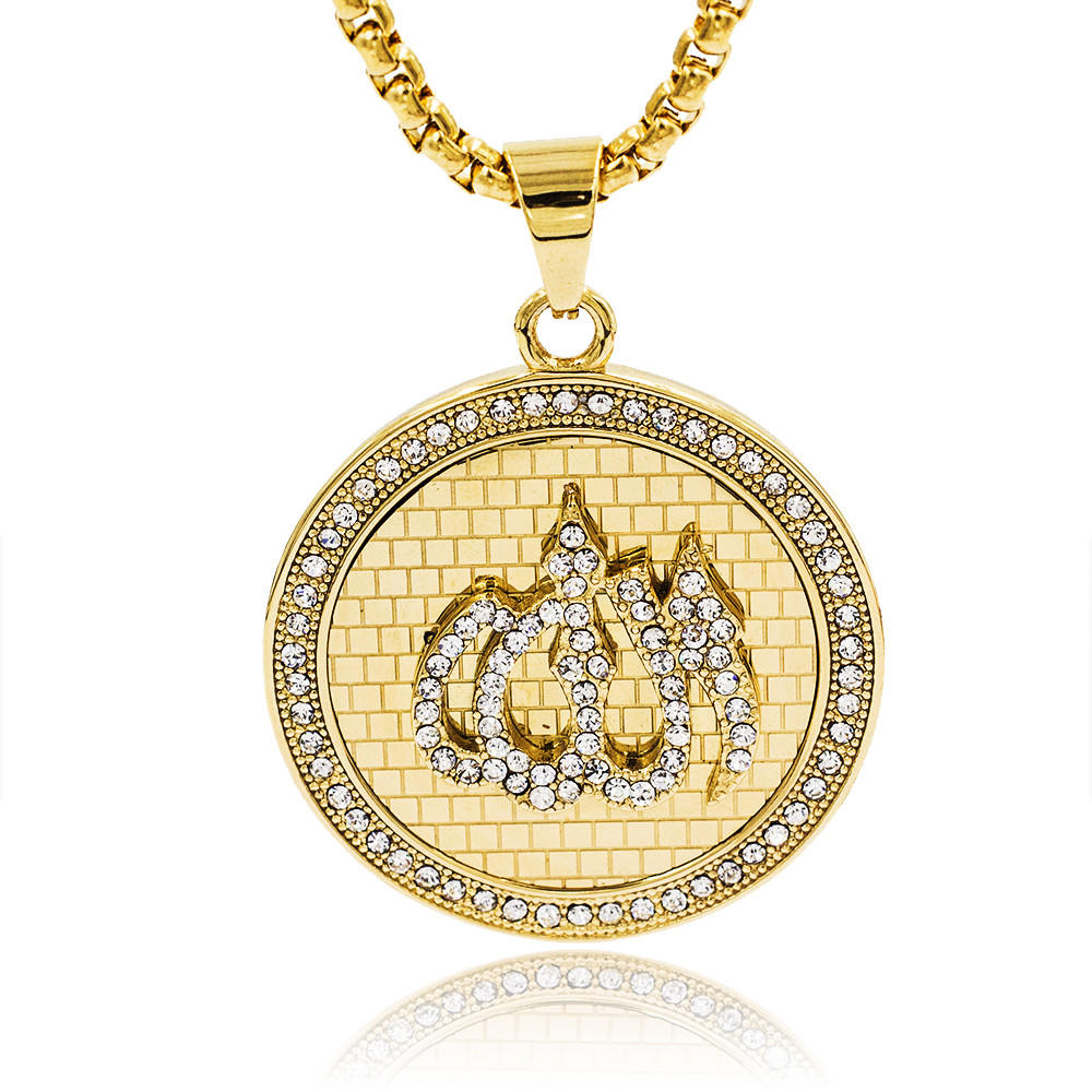 Fashion women gold crystal pendant necklace