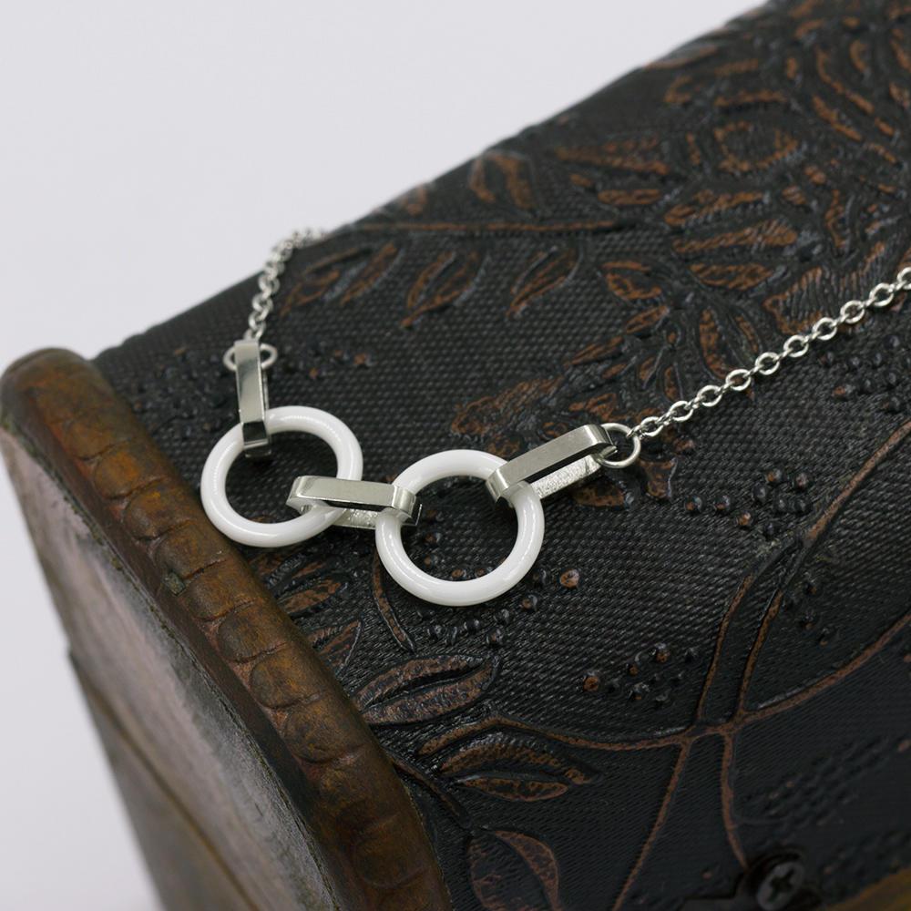 Charm design lovely pendant  necklace in stainless steel  for women  - VD057513bhva-676