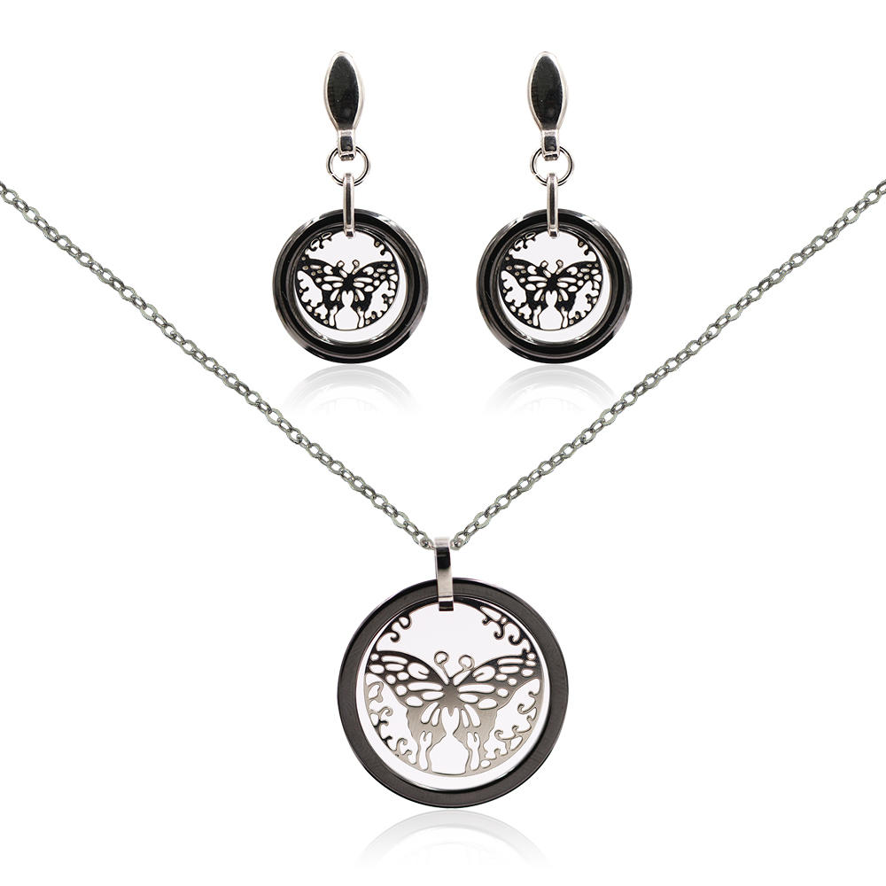 Fashion jewelry set necklace jewelry set in butterfly design for women - VD057517aivb-676