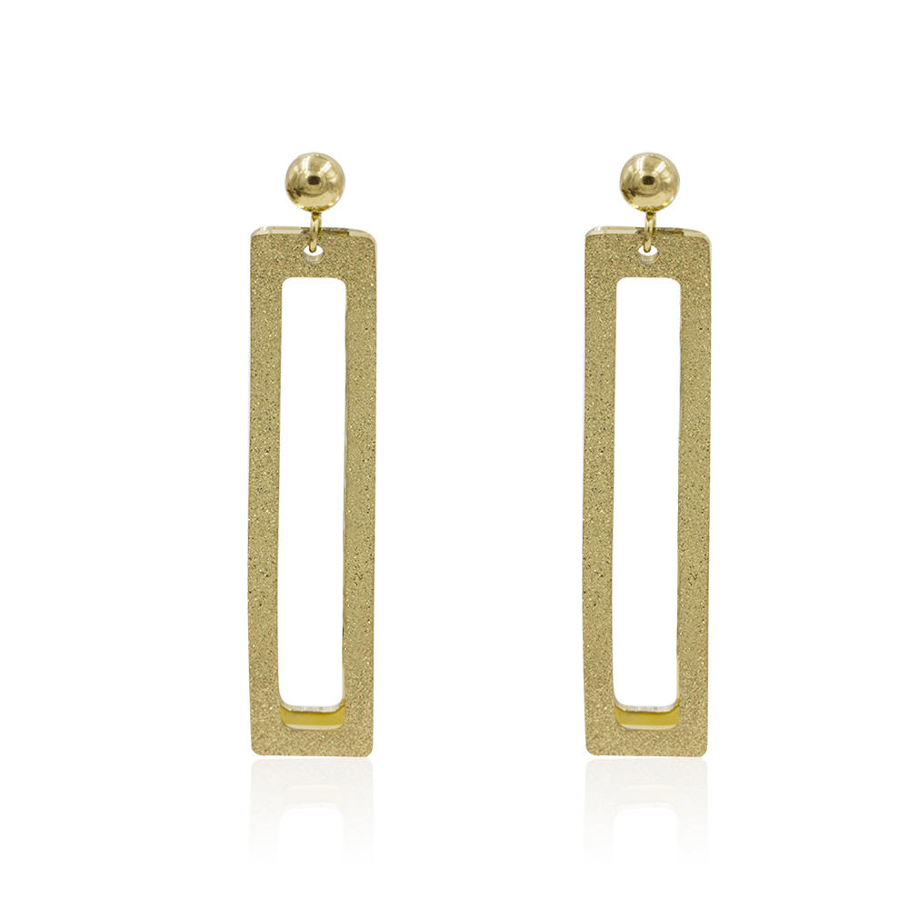Simple design square dubai stud earrings in stainless steel - AW00022vbpb-371