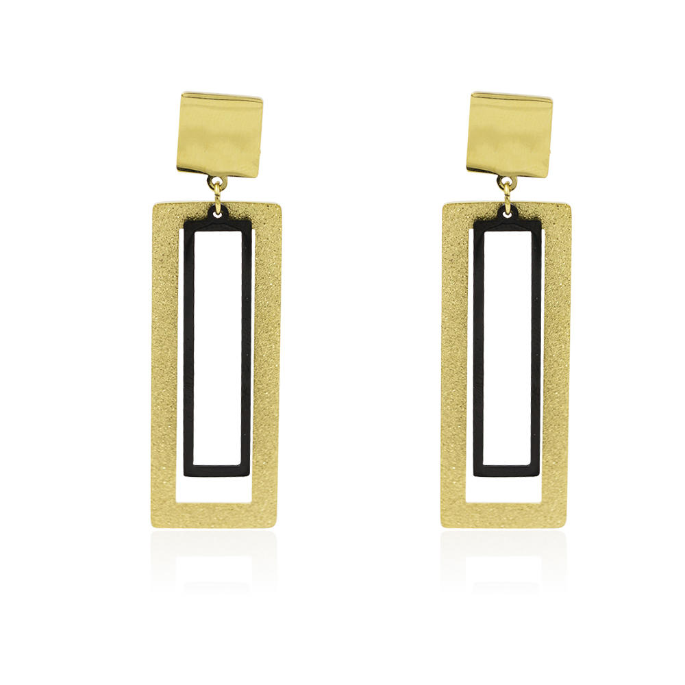Custom dubai gold stainless steel wild earrings for women - AW00024vbpb-371