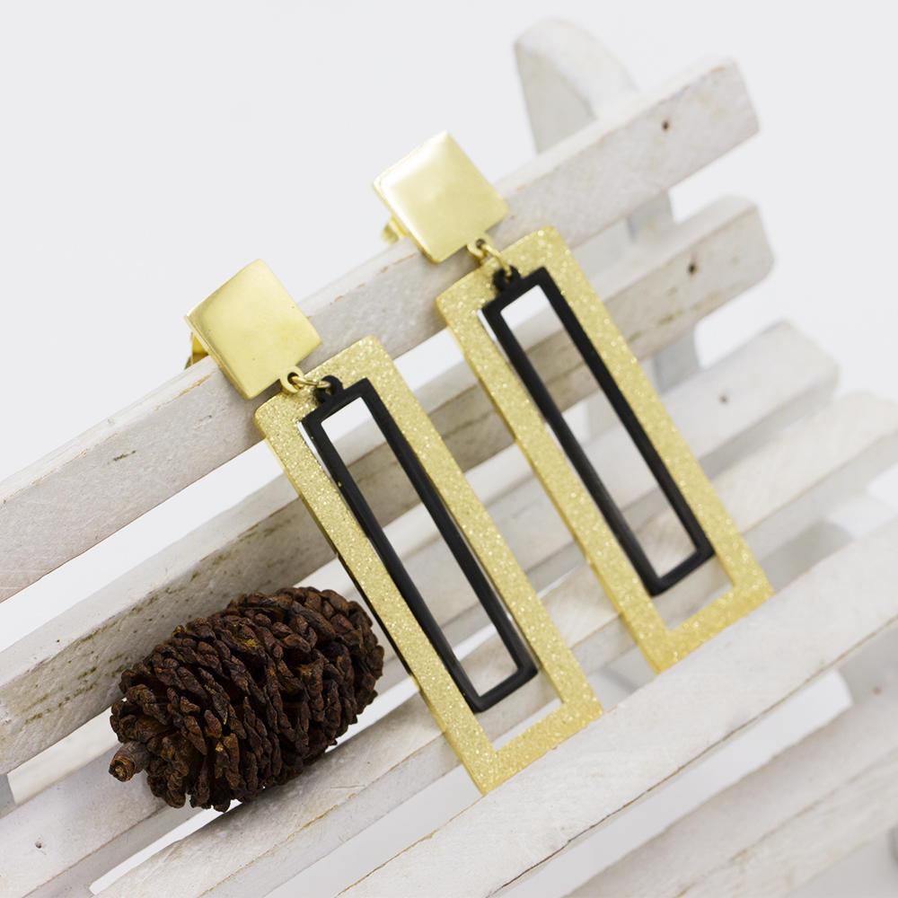 Custom dubai gold stainless steel wild earrings for women - AW00024vbpb-371