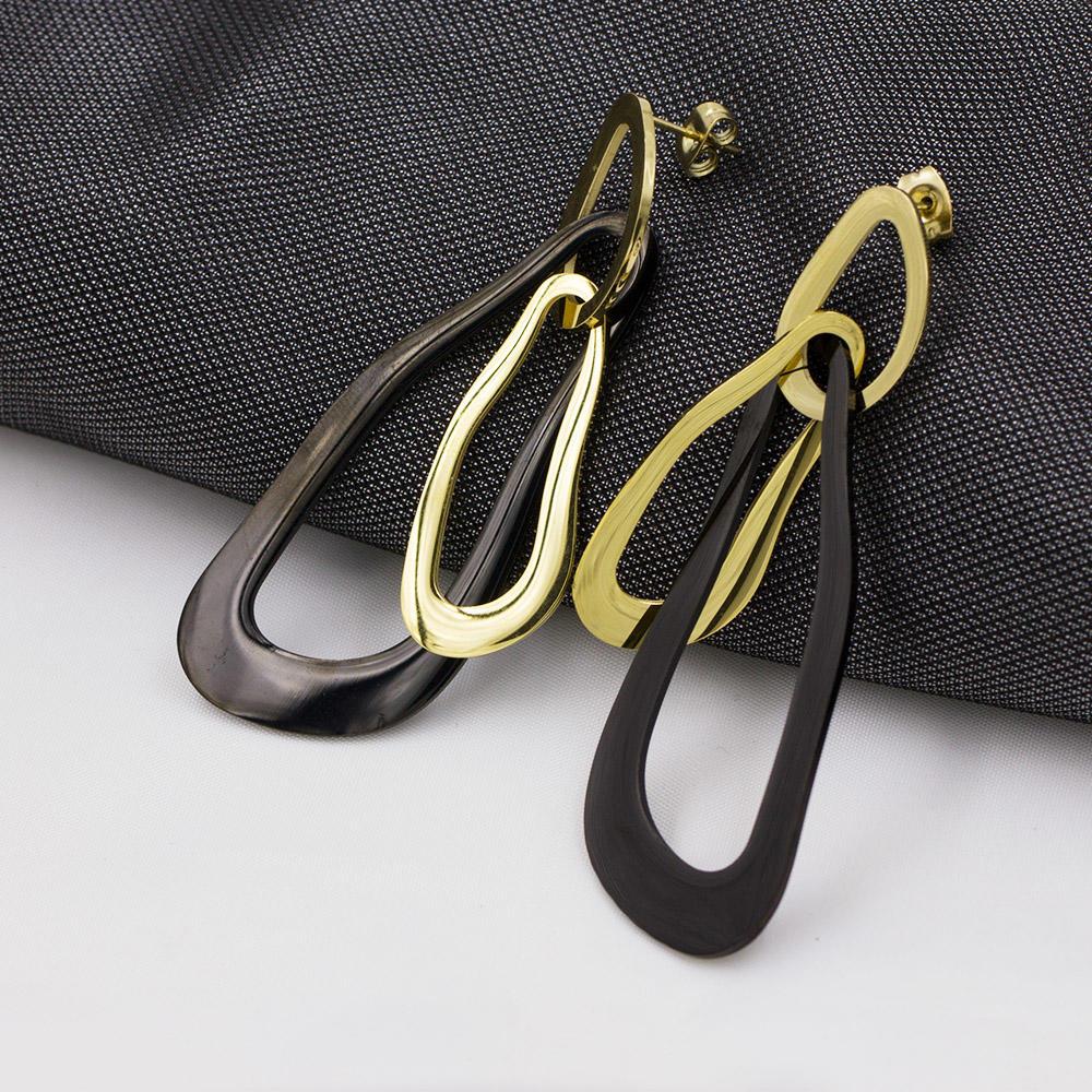 Fashion jewelry earrings gold plated ear stud earrings women - AW00025bhva-371
