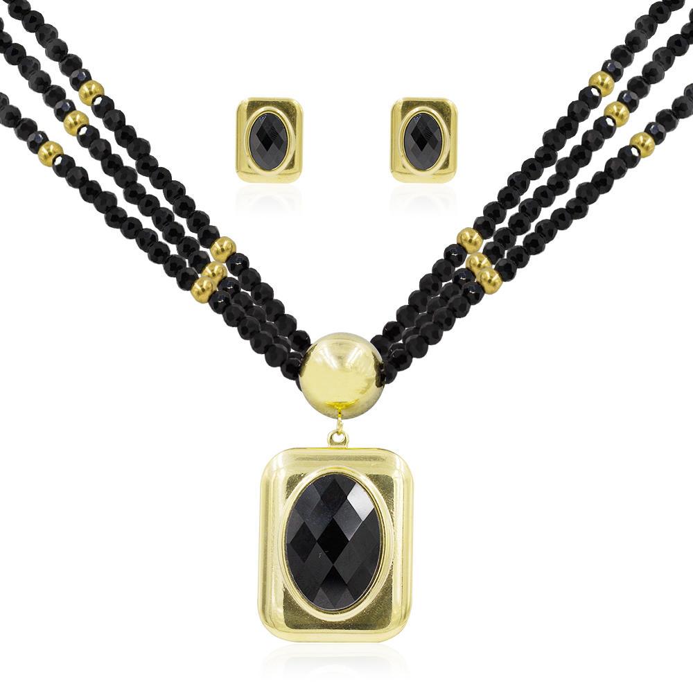 Dubai bridal jewelry set women stone jewelry set  in stainless steel - AW00036ajia-371