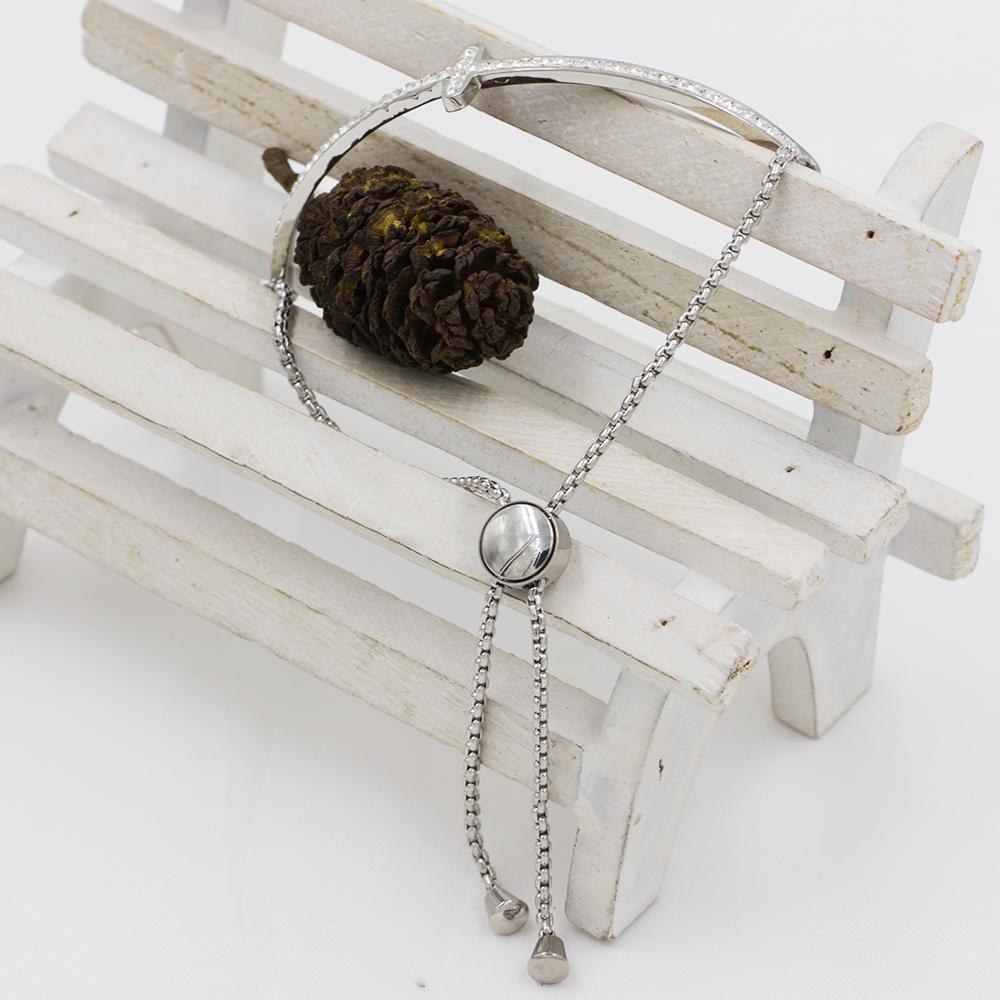 Vintage cuff bangle alloy bangle fashion cross design for women - AW00079vhkb-683