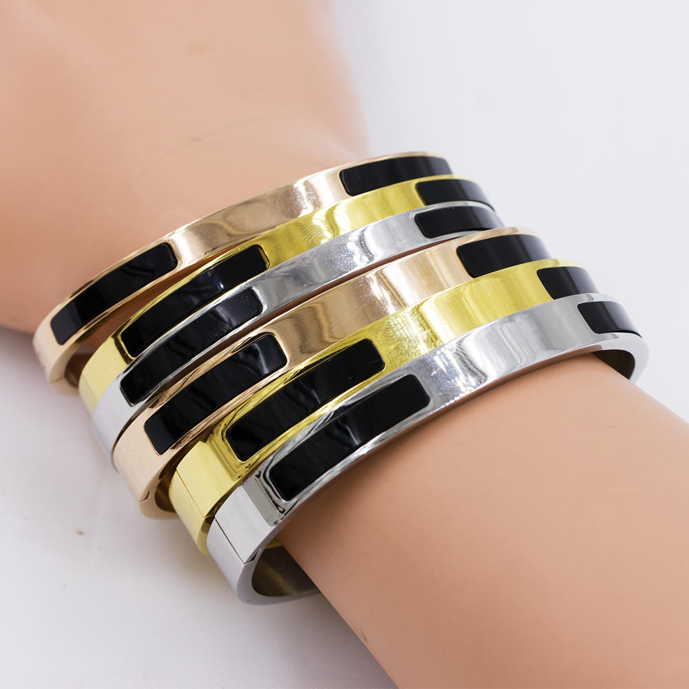 Alloy bangle open bangle punk bangle custom design - AW00084vhov-683