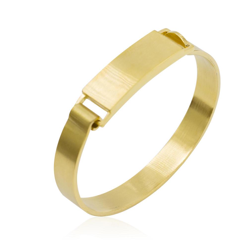 Simple design bangle bracelet open bangle metal bangle for women - AW00086biib-683