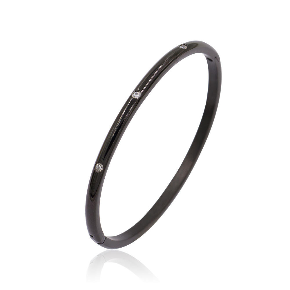 Simple design wild bangle metal bangle fashion bangle for girls - AW00087vhnv-683