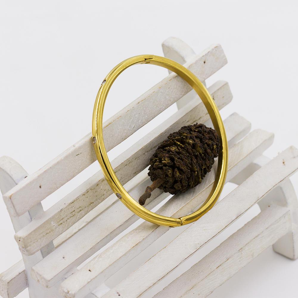 Simple design wild bangle metal bangle fashion bangle for girls - AW00087vhnv-683