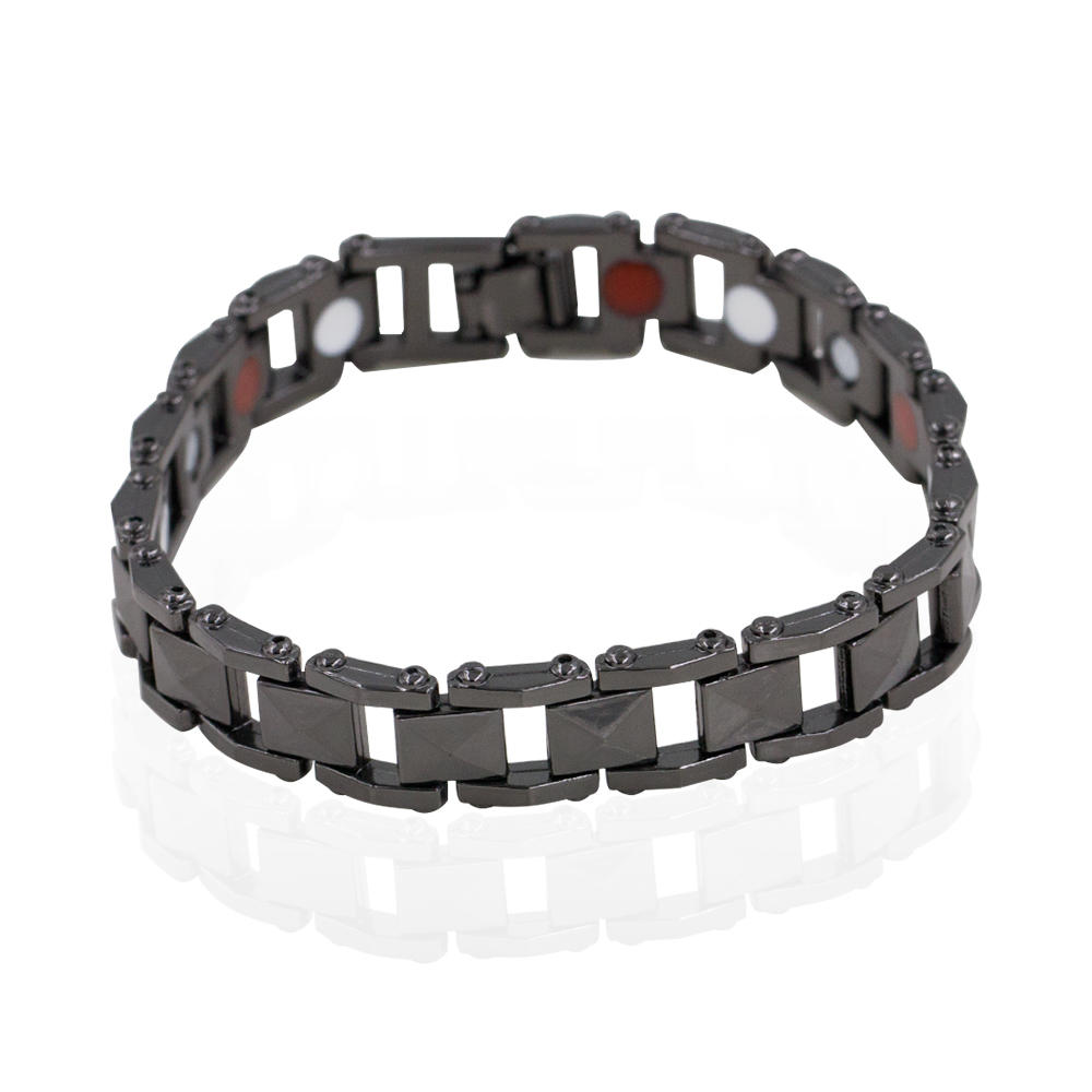 High Quality China wholesale black color magnetic tungsten men bracelet