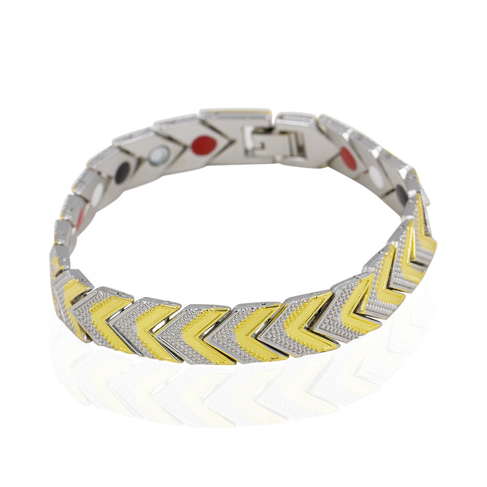 Fashion China wholesale two tones color magnetic tungsten men bracelet