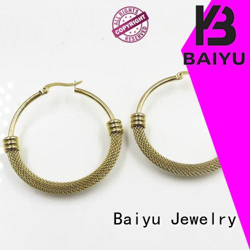 sale stainless earrings stainless steel jewelry earrings Baiyu Jewelry