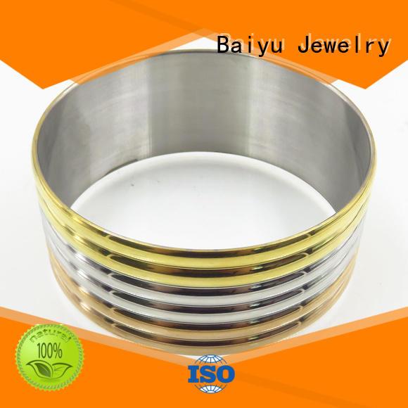 high quality stainless steel bangle bracelets custom for girls