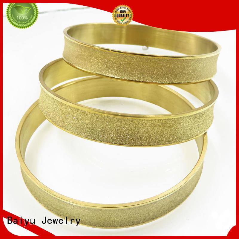 Baiyu Jewelry stainless steel bangle bracelets bulk production for lovers