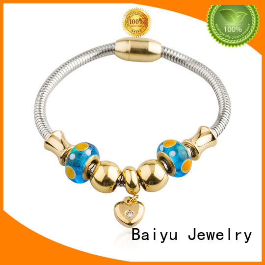 Baiyu Jewelry stainless steel cable bracelets by bulk for girl