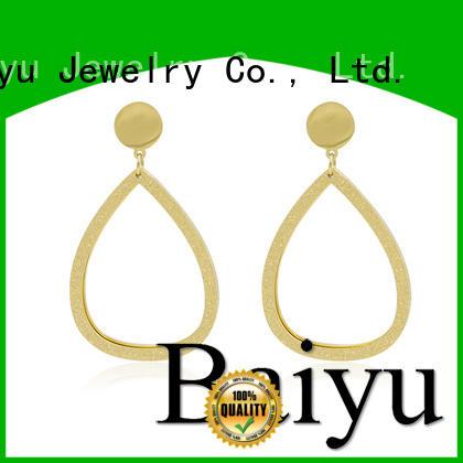 Baiyu Jewelry Brand fashion wholesale stud earrings design factory