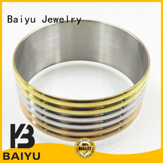 sale circle trendy newest stainless steel bangles Baiyu Jewelry