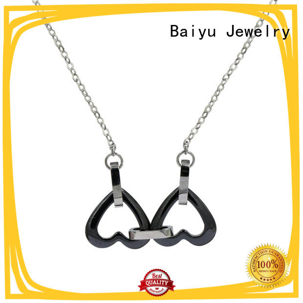 Baiyu Jewelry long stainless steel chains for sale charm for girl