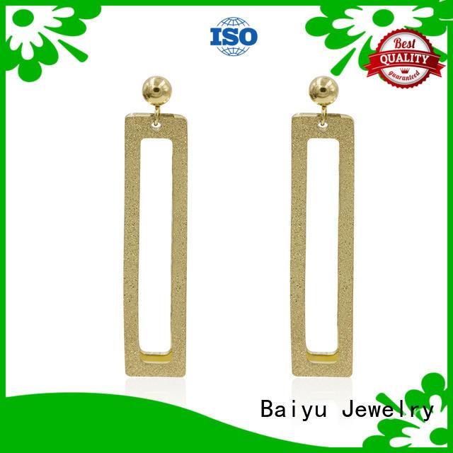 arabic steel stud earrings popular models for mother Baiyu Jewelry