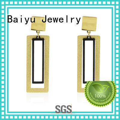Baiyu Jewelry fashion metal stud earrings simple designs for mother