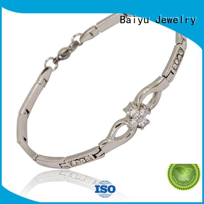 Baiyu Jewelry Custom stainless steel bangle bracelets Supply