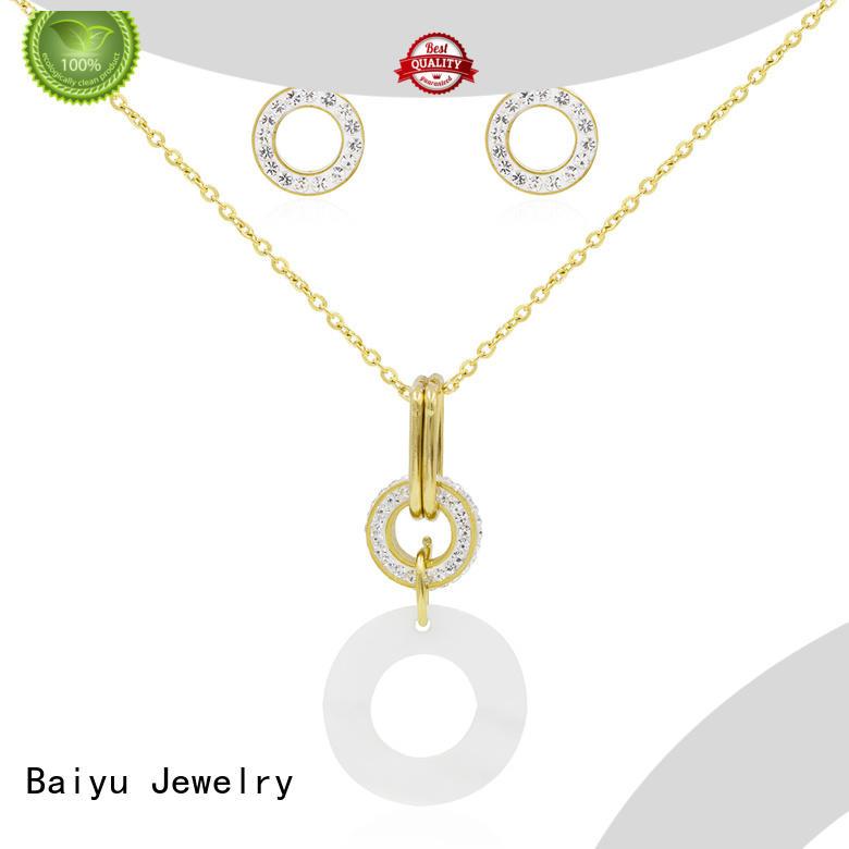 Baiyu Jewelry costume jewellery sets colorful for ladies