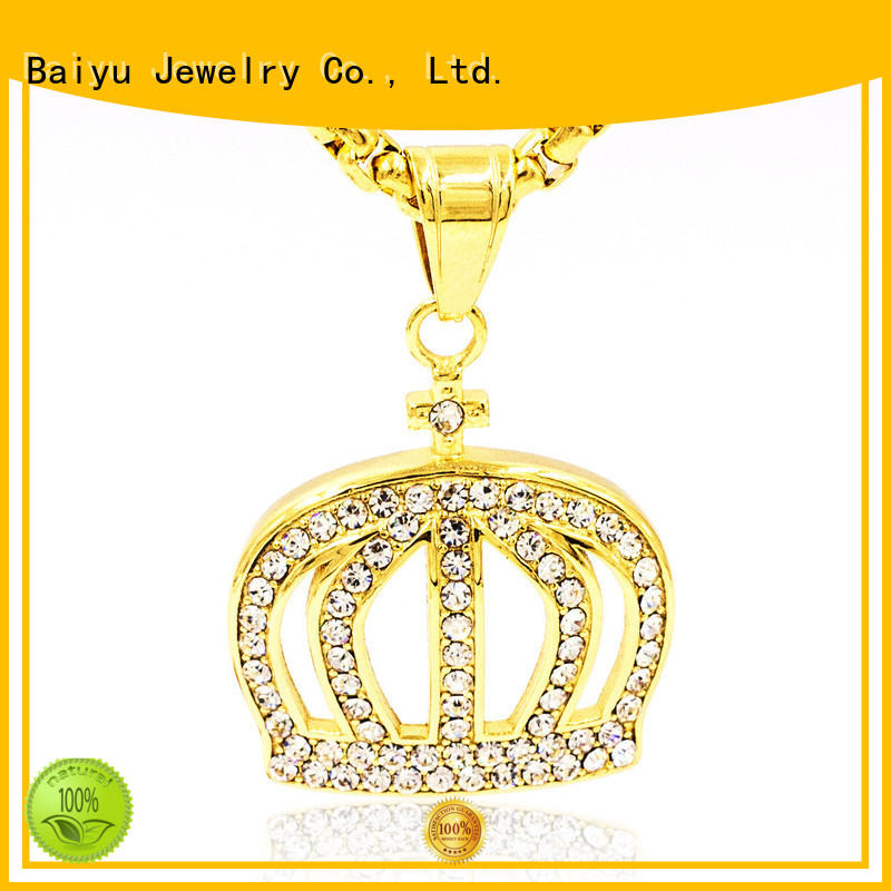 Baiyu Jewelry stainless steel figaro chain bulk production for girl