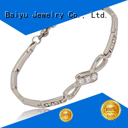 Baiyu Jewelry stainless steel bangle bracelets high-end for lovers