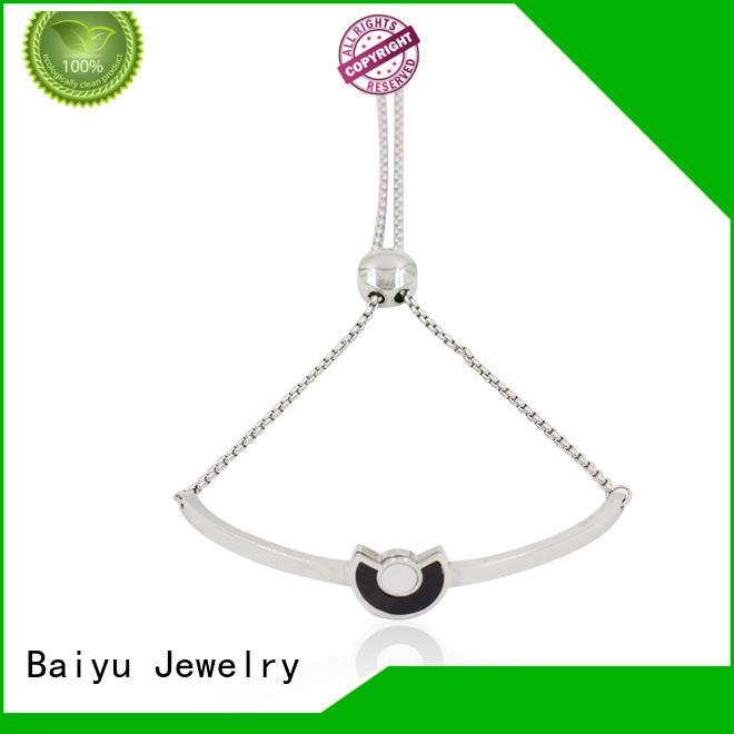 Baiyu Jewelry shaped stainless steel bangles wholesale fashionable for bridal