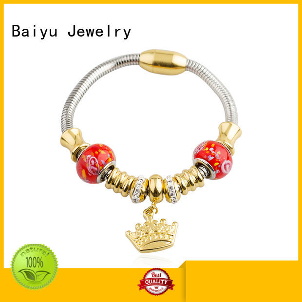Baiyu Jewelry on-sale stainless steel cable bracelets for wholesale for girlfriend