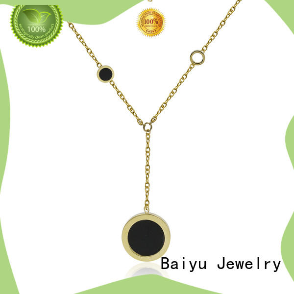 rhinestones stainless steel neck chain free sample for girl Baiyu Jewelry