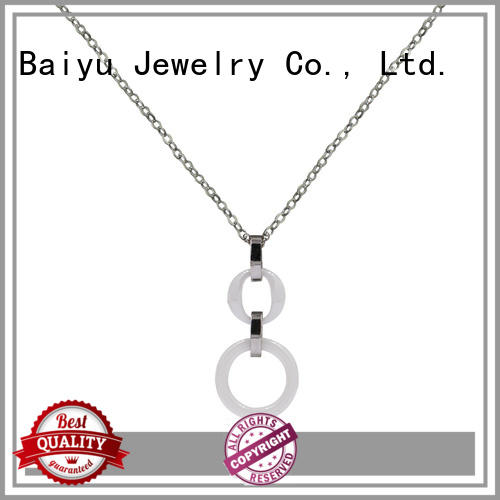 Baiyu Jewelry rhinestones 316 stainless steel chain for wholesale for girl