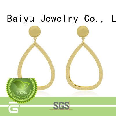 real pear metal stud earrings arabic simple designs for mother