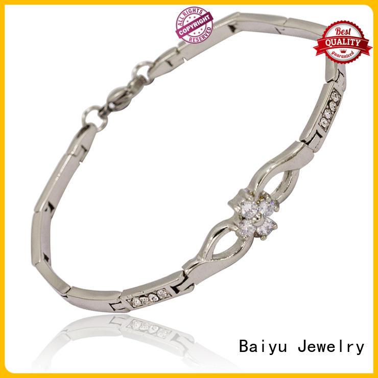 Baiyu Jewelry hot-sale stainless steel bangle bracelets high-end for boys